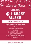Love to Read Month @ Library Allard